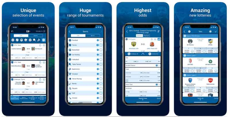 1xbet app download Android e iOS